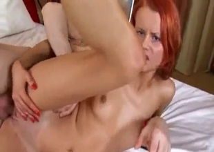 My redhead sister prefers anal sex in the morning