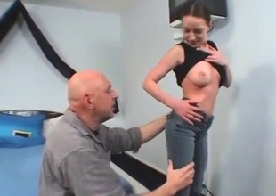Bald dad asked his daughter for a good blowjob