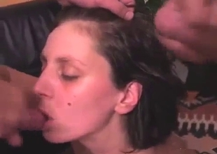 Bisexual dad and mom sucks their son dick
