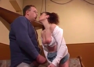 Curly redhead sister gets orally fucked by brother