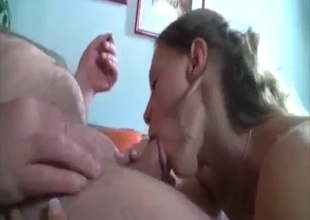 Old dad and my auntie have sweet sex