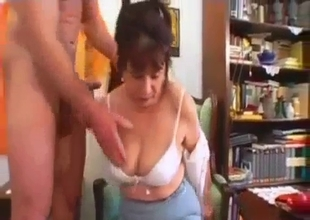 Sex hungry mom gives a passionate blowjob