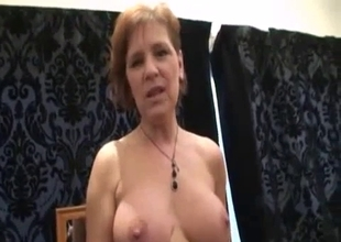 Redhead mom loves incest sex with her son