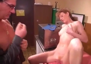 Stunning mom enjoys dirty fingering with son